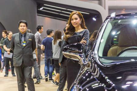 lexus auto: Bangkok, Thailand - December 11, 2016 : Unidentified model with Lexus car  at The 33nd Thailand International Motor Expo on  December 11,2016 in Bangkok, Thailand.