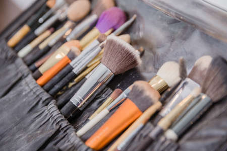selective focus of Make up brush