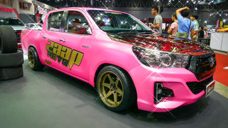 BANGKOK - JULY 5 : Modified car show at Bangkok International Auto Salon 2018, the largest and most magnificent Modified Car and automobile accessories show in Bangkok, Thailand. Editorial
