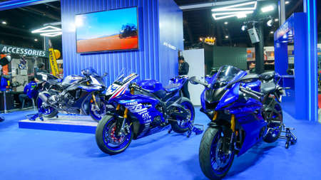 BANGKOK - JULY 5 : YAMAHA Modified car show at Bangkok International Auto Salon 2018, the largest and most magnificent Modified Car and automobile accessories show in Bangkok, Thailand.