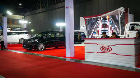 BANGKOK - JULY 5 : KIA Motor Modified car show at Bangkok International Auto Salon 2018, the largest and most magnificent Modified Car and automobile accessories show in Bangkok, Thailand.