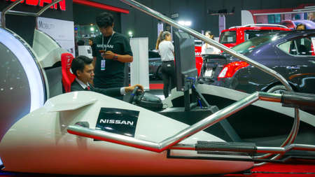 BANGKOK - JULY 5 : NISSAN Modified car show at Bangkok International Auto Salon 2018, the largest and most magnificent Modified Car and automobile accessories show in Bangkok, Thailand. Editorial