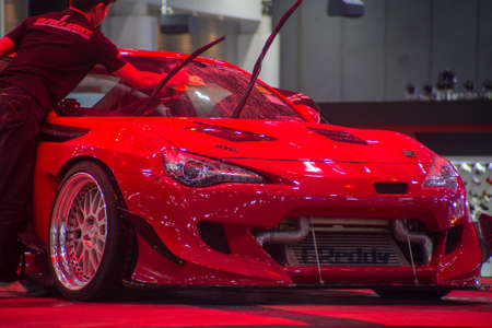 BANGKOK - JULY 5 : Modified car show at Bangkok International Auto Salon 2018, the largest and most magnificent Modified Car and automobile accessories show in Bangkok, Thailand. Redakční