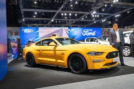 Bangkok, Thailand - November 30, 2018 :  Ford car show at Thailand International Motor Expo 2018 (MOTOR EXPO 2018) on Nov 30,2018 in Bangkok, Thailand.