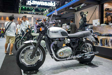 Bangkok, Thailand - November 30, 2018 :  TRIUMPH Motocycle and TRIUMPH Shop at Thailand International Motor Expo 2018 on Nov 30,2018 in Bangkok, Thailand. Sajtókép