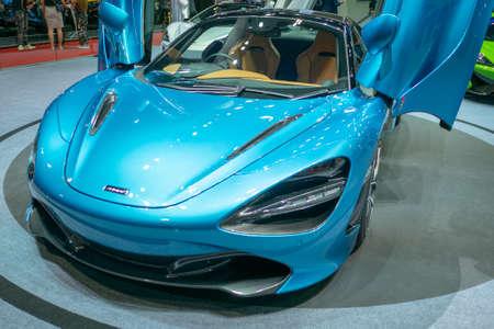 BANGKOK, THAILAND - Mar 28,2019 : Mclaren car present at The 40th Thailand International Motor Show in IMPACT Muang Thong Thani Hall, Bangkok, Thailand.