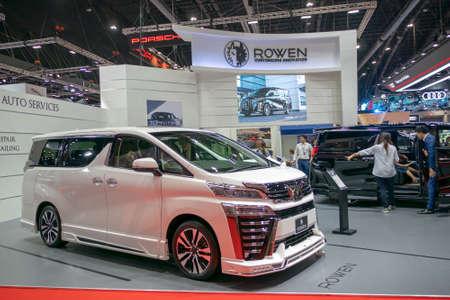 BANGKOK, THAILAND - Mar 28,2019 : Rowen car present at The 40th Thailand International Motor Show in IMPACT Muang Thong Thani Hall, Bangkok, Thailand.