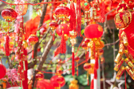 Chinese new year background. Decoration chinese style 스톡 콘텐츠