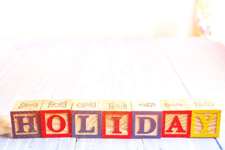 The wood character Holiday, Holiday concept background.
