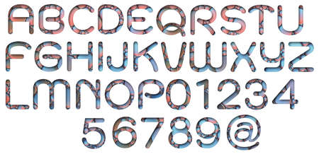 Alphabet letters from oil bubbles on white background ( A - Z )