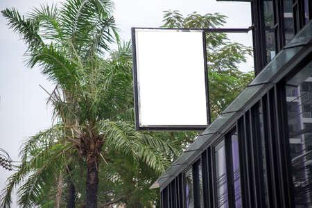 Empty billboard ready for new advertisement. 스톡 콘텐츠