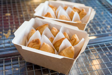 Set of curry puff on wood table