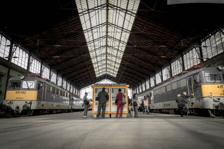 Bahnhof Nyugati in Budapest, April 2018