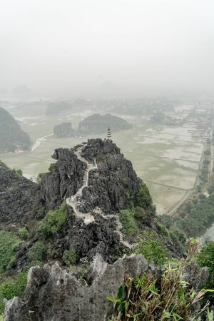 Dusty atmosphere at Hang Mua, Ninh Binh, Vietnam