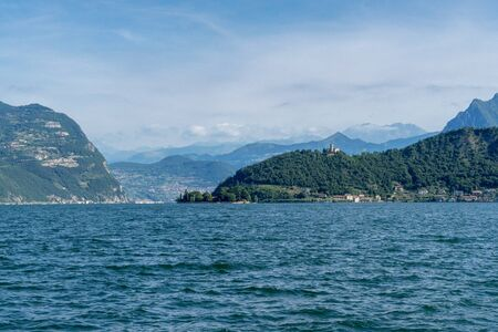 Mid-day atmosphere at the Lago d'Iseo