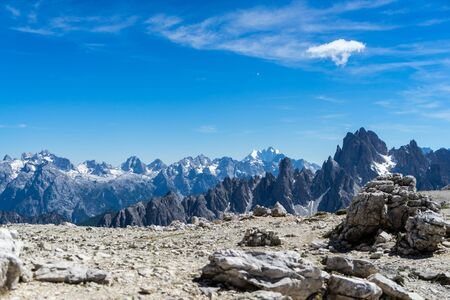 Landscape of the dolomites in Italy