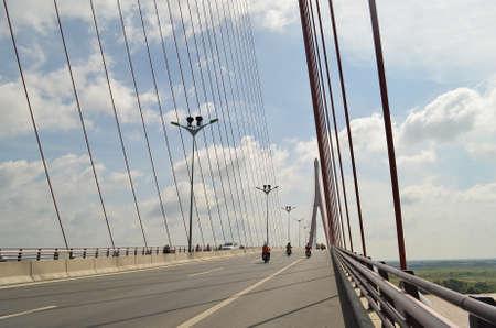 cable bridge: A large cable bridge