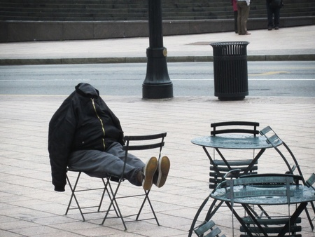 A homeless man in Atlanta, GA, USA