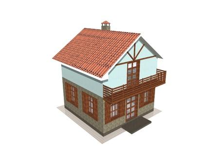 The small Alpine house Stock Photo - 8885106