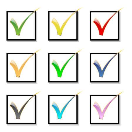 Selectie vakje-Icon set