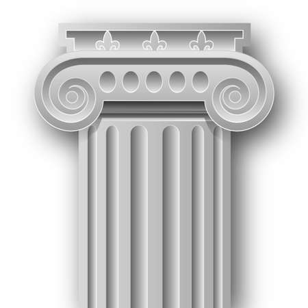 art museum: Ionic column Illustration