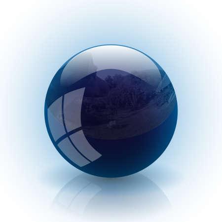 Blue ball photo