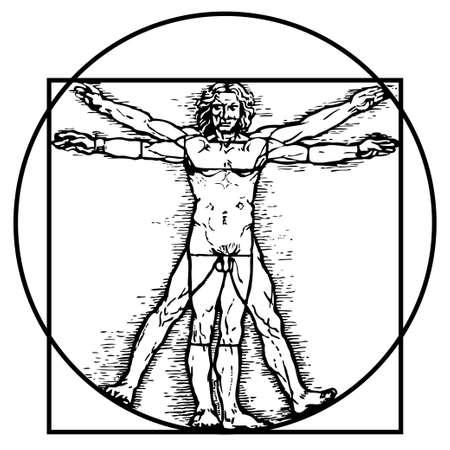 vitruvian man: El hombre de Vitruvio
