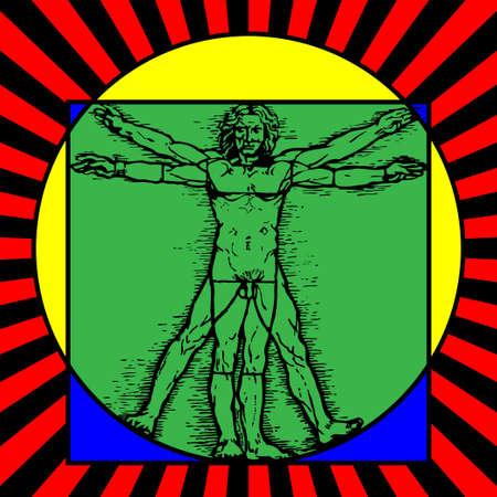 uomo vitruviano: L'uomo vitruviano Vettoriali