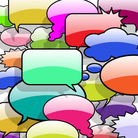 burbujas de pensamiento: Discurso y pensamiento burbujas