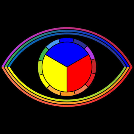 secondary colors: Eye - Color wheel Illustration