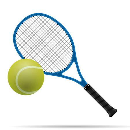 raqueta de tenis: Pelota de tenis y raqueta