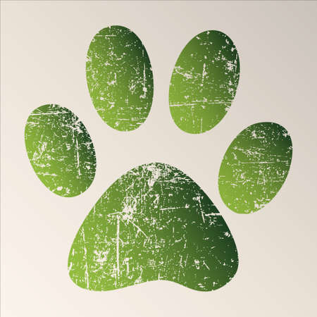 dog run: Paw Print Stock Photo