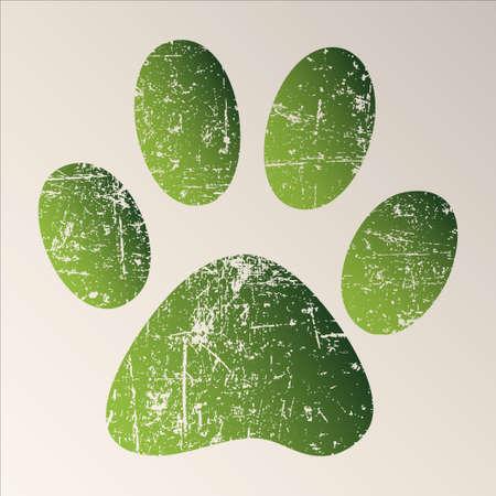 cat paw: Paw Print Stock Photo