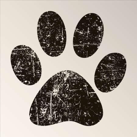 paw print: Impresi�n de la pata