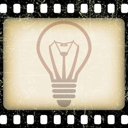 color photo: The idea of the film Stock Photo