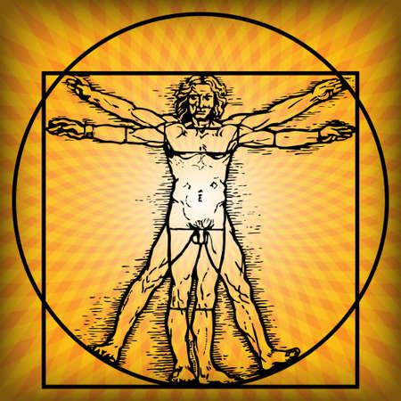 vitruvian man: Sungazing