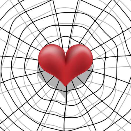 spider web: Love trap