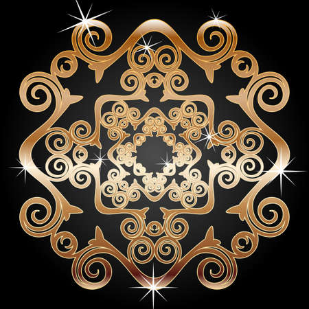 circulate: Gold decoration element
