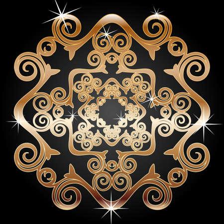 connexion: Gold decoration element
