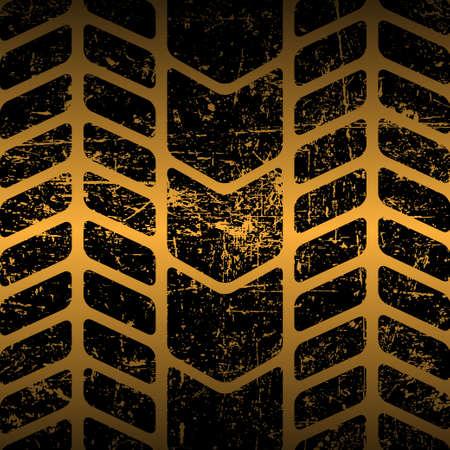 Sucia pista de los neumáticos