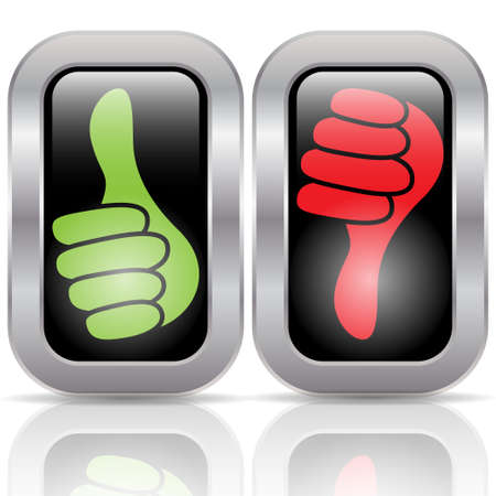 benchmark: Positive negative voting buttons