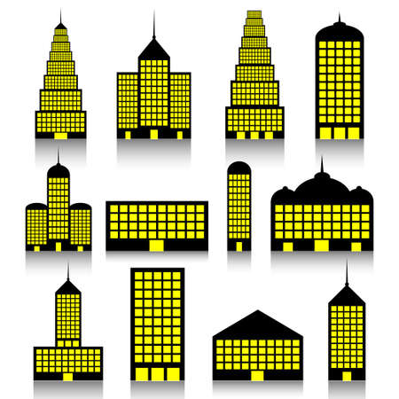 Building icons set Stock Vector - 11433337