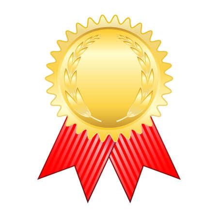 ゴールド賞リボン  イラスト・ベクター素材