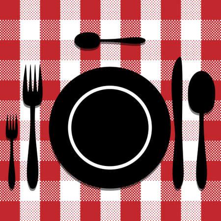 dinner setting: Juego de cubiertos