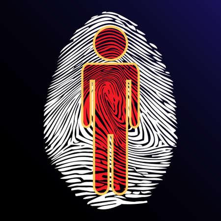 odcisk kciuka: Odcisk palca tożsamość