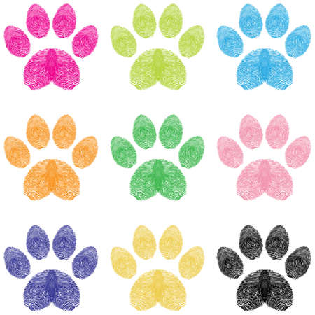 dog paw: Paw Prints