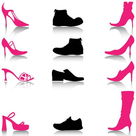 zapatos de seguridad: Calzado Vectores