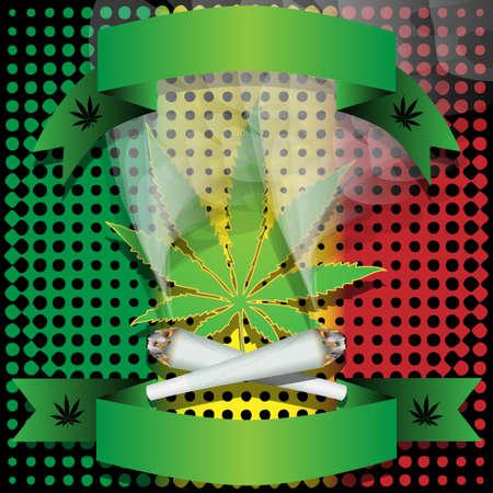 marihuana leaf: Marijuana-Cannabis-Joint Stock Photo
