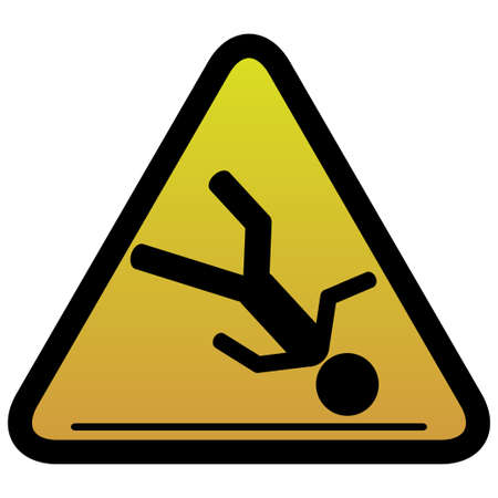 slippery warning symbol: Warning sign slippery