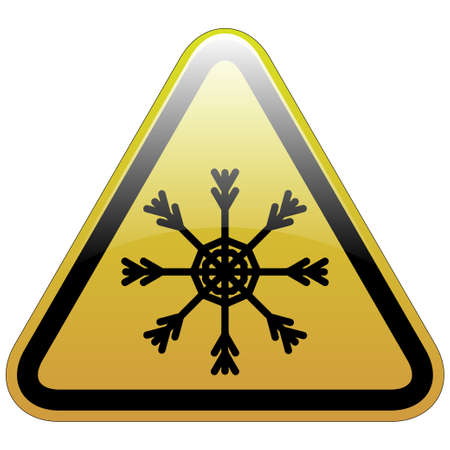 slippery warning sign: Warning sign of snow